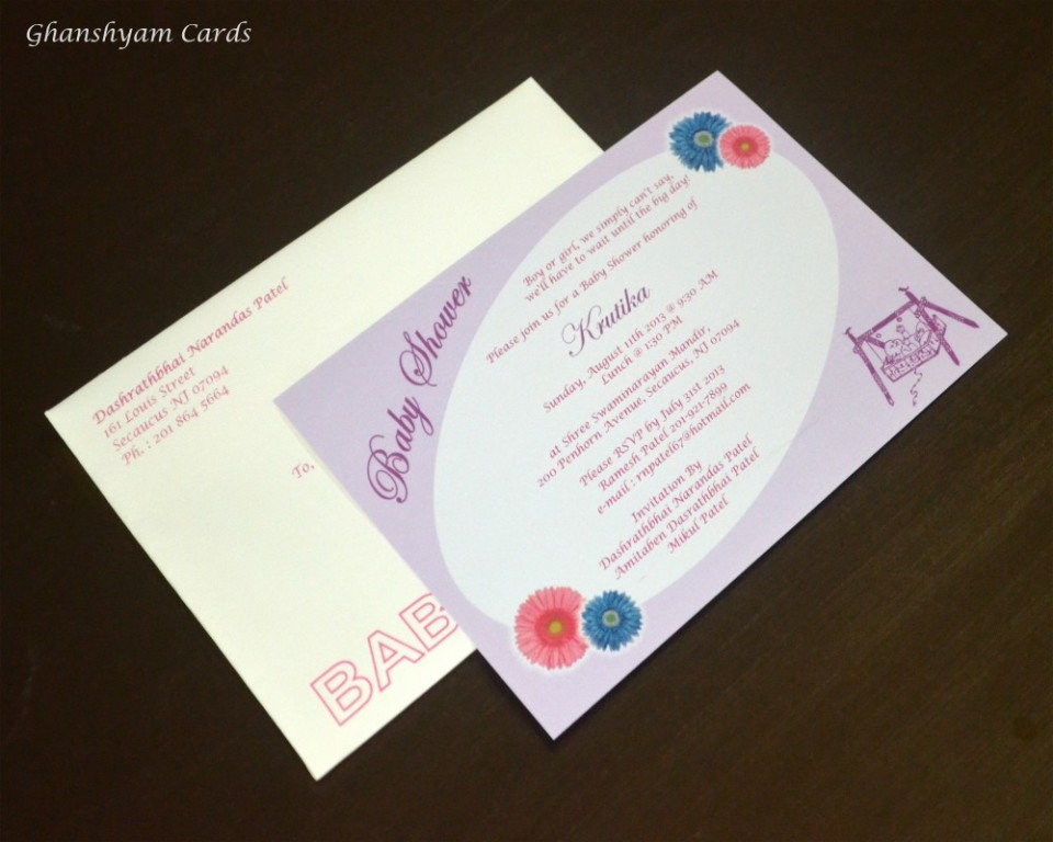 Baby Shower Card Code GCP 010