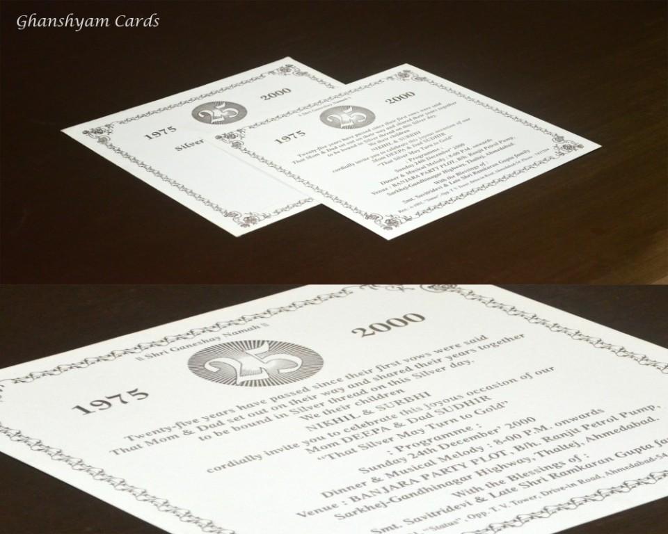 Anniversary Card Code GCP 011