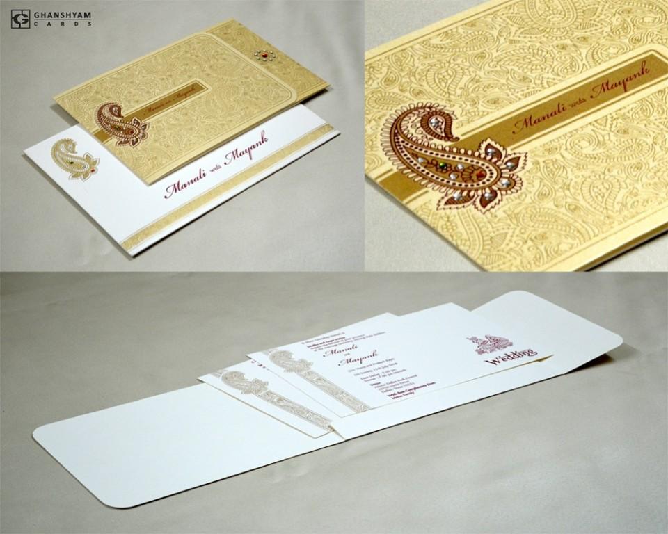 Traditional Wedding Card Design GC 1012