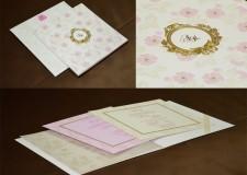 Floral Theme Wedding Card Design GC 1029