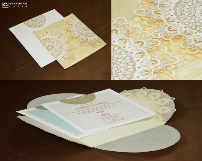 Laser Cut Designer Wedding Card GC 1032