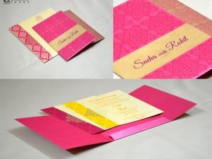 Pink Designer Budget Wedding Card GC 2009