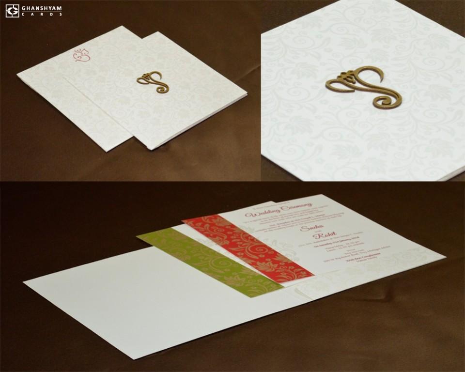 White Budget Wedding Card GC 2010