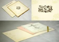 Cream Designer Wedding Card GC 2015