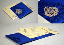 Royal Blue Budget Wedding Card GC 2016
