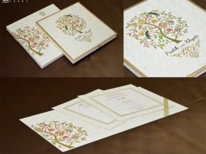 Tree of Life Theme Designer Wedding Card GC 2052