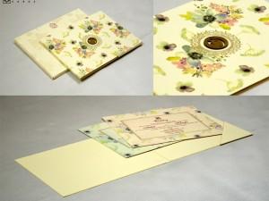 Floral Wedding Card Design GC 2055