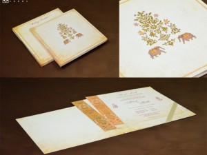 Elephant Theme Royal Wedding Card Design GC 2061