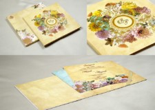 Designer Floral Wedding Card Gc 2062