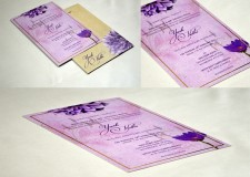 Floral Theme Purple Engagement Wedding Card GC 2099