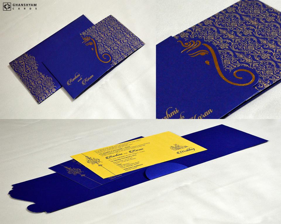 Door Style Hindu Wedding Card GC 3013