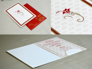 Ganesh Theme Hindu Wedding Card GC 3014