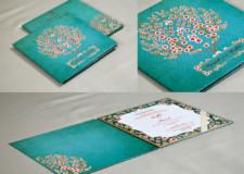 Green Tree Theme Exclusive Wedding Card GC 3052
