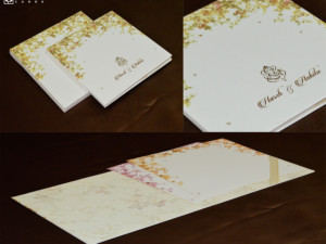 Designer Padded Wedding Card GC 3054