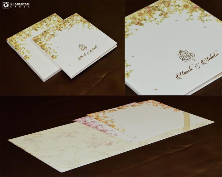 Designer Padded Wedding Card GC 3054