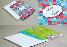 Multicolour Designer Wedding Card GC 3055