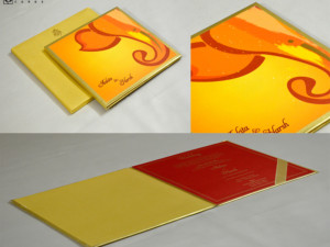 Ganesh Theme Hindu Wedding Card GC 3060
