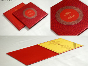 Red Padded Wedding Card GC 3068