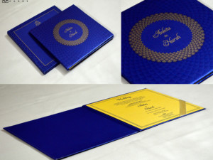 Blue Padded Wedding Card GC 3069