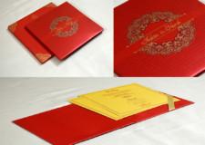 Red Padded Wedding Card GC 3070