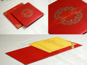 Red Padded Wedding Card GC 3070