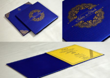 Blue Padded Wedding Card GC 3071