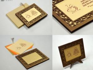 Photo Frame Style Laser Cut MDF Wedding Card LM 201 Copper