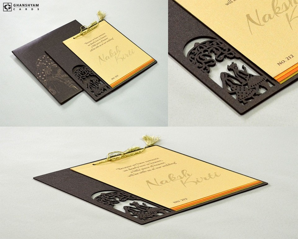 Phera Laser Cut MDF Wedding Card LM 212