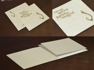 Budget Hindu Wedding Card Design LM 279 Cream