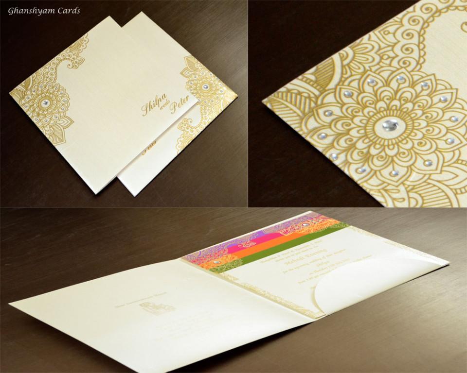 Designer Wedding Card NS 103