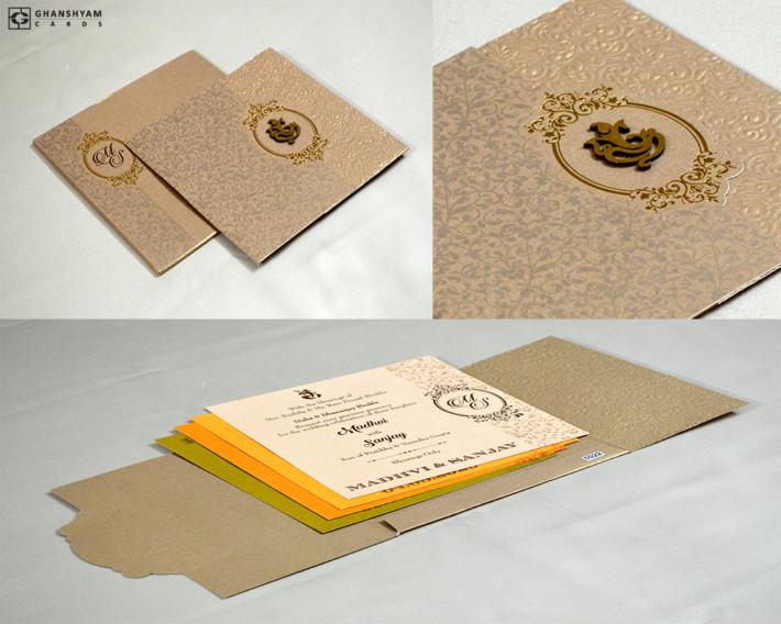 Grey Budget Wedding Card PR 1022