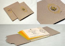 Grey Budget Wedding Card Design PR 1022