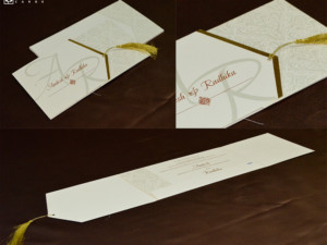 Centre Fold Wedding Card Design PR 1063