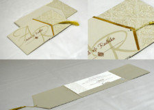 Centre Fold Wedding Card Design PR 1064