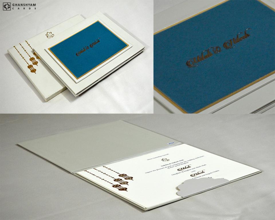 Green Velvet Exclusive Wedding Card Design PR 2022