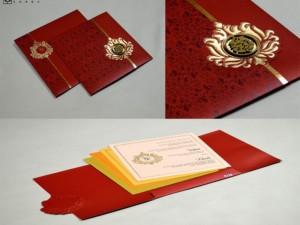 Red Budget Wedding Card PR 421