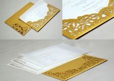 Laser Cut Wedding Card PR 482