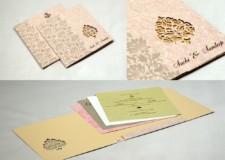 Budget Laser Cut Wedding Card PR 525