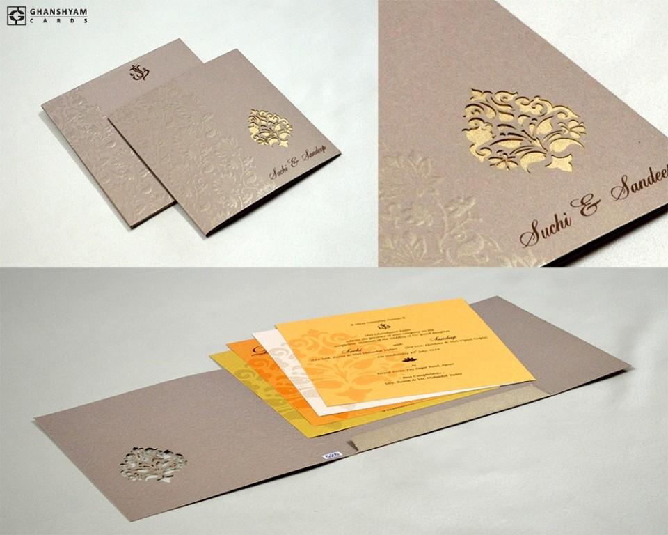 Budget Laser Cut Wedding Card PR 526