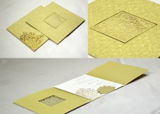 Golden Lasercut Wedding Card PR 530