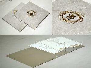 Grey Wedding Card Design PR 551