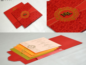 Red Budget Wedding Card PR 707