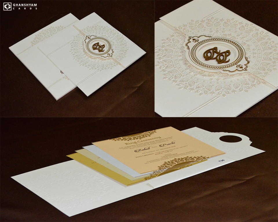 Door Style Hindu Wedding Card PR 736