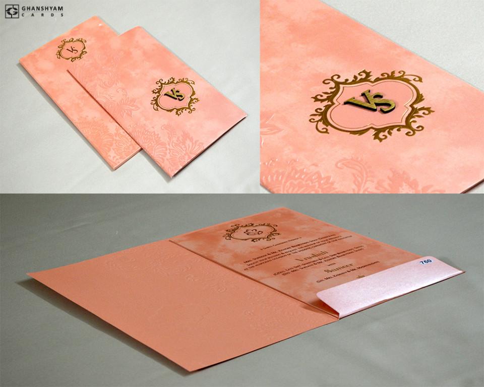 Budget Wedding Card Design PR 760