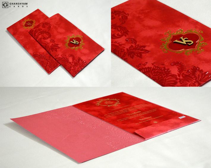 Budget Wedding Card Design PR 761