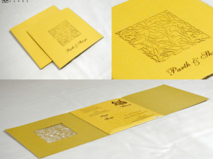 Laser Cut Wedding Card Design PR 775