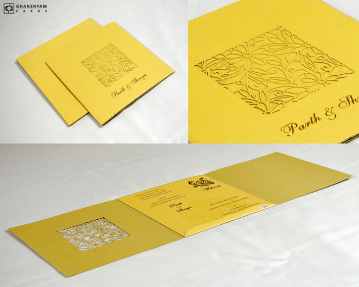 Laser Cut Wedding Card Design PR 775