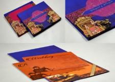 Royal Elephant Theme Wedding Card PR 907
