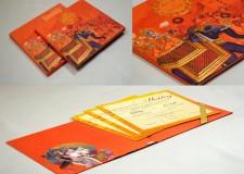 Exclusive Baraat Theme Wedding Card PR 912