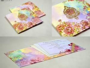 Exclusive Floral Padded Wedding Card Design PR 949